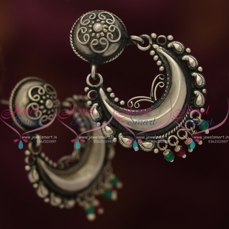 jewellery silver necklaces round online oxidised pearl