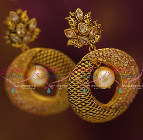 Er7575 Big Size Gold Colour Lct Antique Earrings Latest