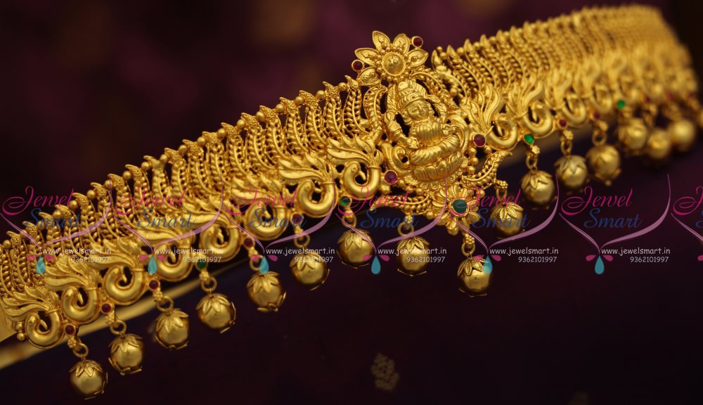Bridal sarees indian bridal sarees bridal sarees for parties - H7449 One Gram Gold Plated Oddiyanam Hip Chain Temple