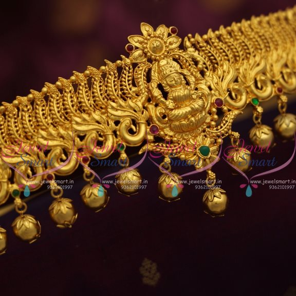 H7449 One Gram Gold Plated Oddiyanam Hip Chain Temple