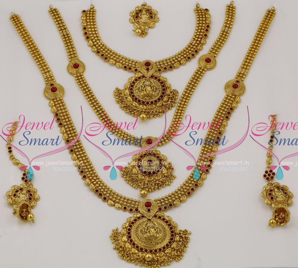 BR7782 Full Bridal Set Short Medium Long Necklace 3 In One Traditional Design Collections