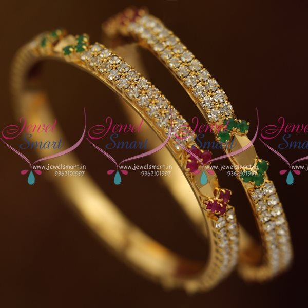 B8122 Small Size Gold Plated Bangles Baby Kids Girls Ruby