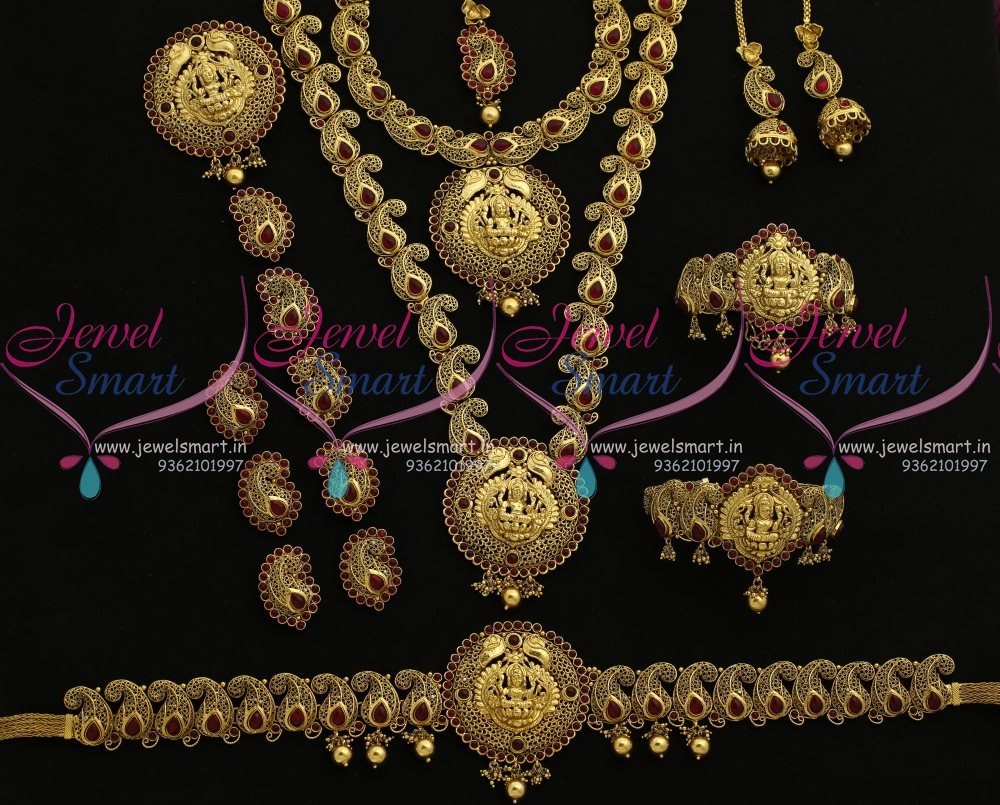 BR8061 Antique Mango Nagas South Indian Traditional Full Bridal Imitation Jewellery Collections