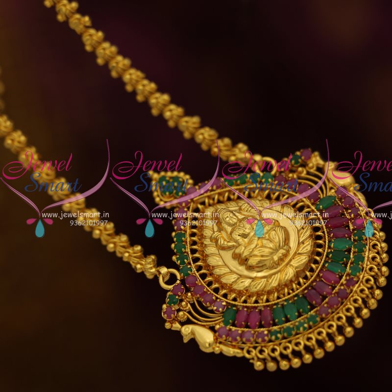 CS8132 Gold Plated Traditional South Indian Chain Pendant Temple Jewellery  Online