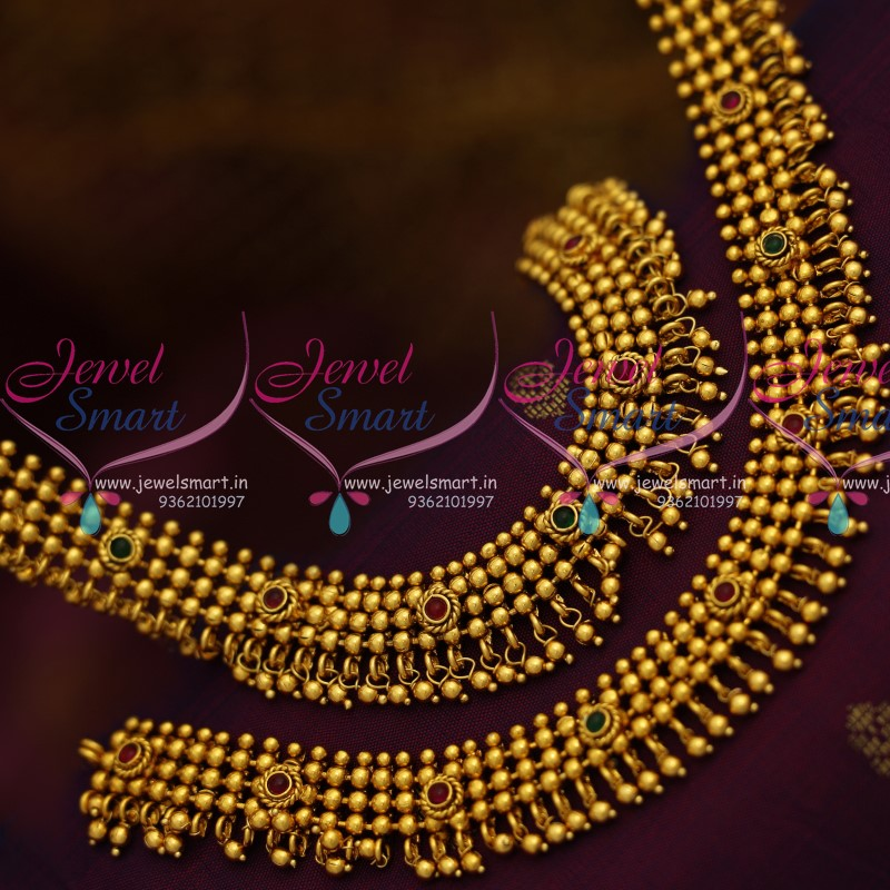 A8234 Gold Ball Design Antique Gold Plated Fancy Anklets Legchains ...