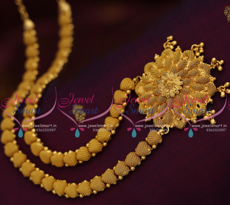 NL7948 Latest Emboss Design Simple Gold Plated Haram Long Necklace ...