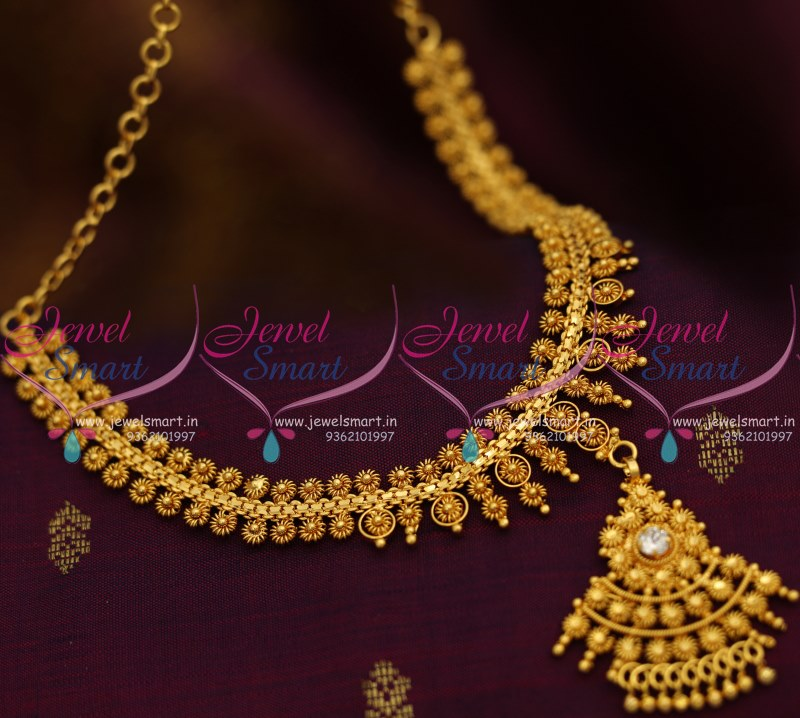 NL8439 Spiral Design Broad Necklace Gold Plated Traditional ...