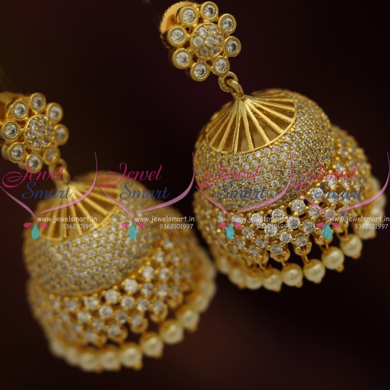jewellery jhumka long models diamondpeacock diamond jhumkas designs