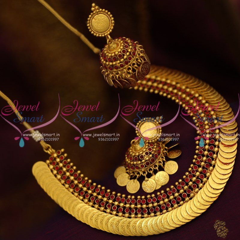 NL8736 Latest Temple Traditional Gold Design Kasumala Necklace ...