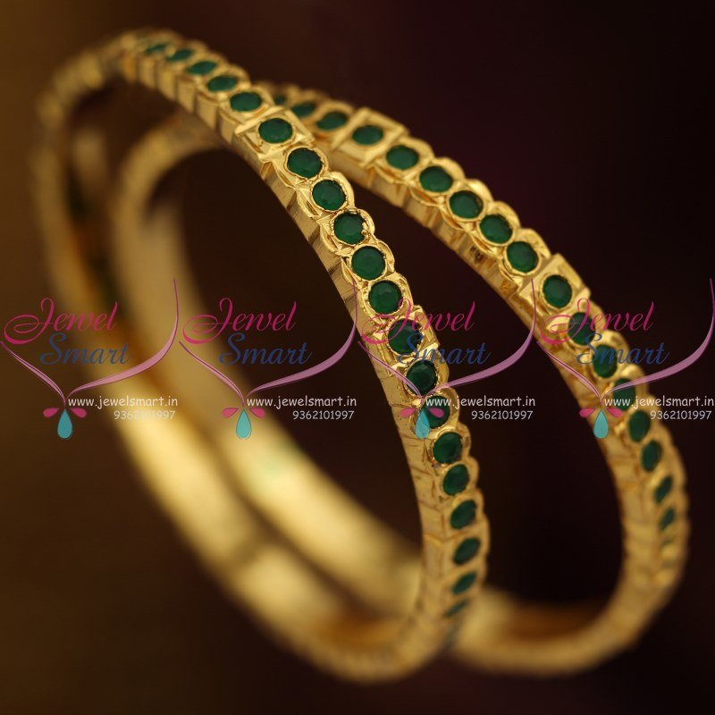gpb designed black ovi and kundan stone jewellery green bangles
