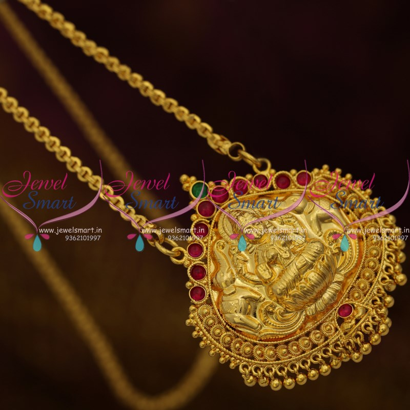 Cs9221 kemp red green gold plated south indian 24 inches chain cs9221 kemp red green gold plated south indian 24 inches chain pendant temple jewellery online mozeypictures Image collections