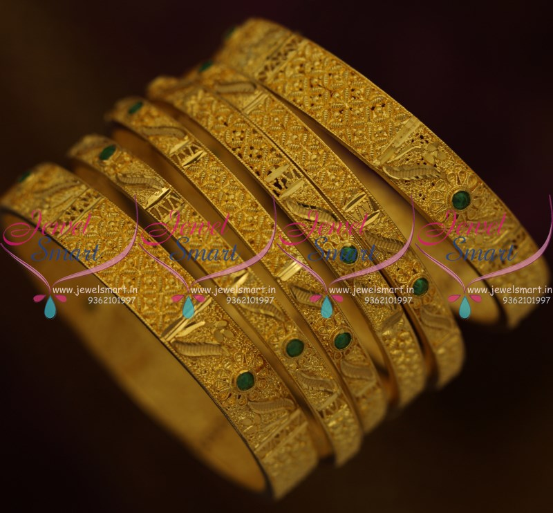 B9317 Forming Gold Plated 6 Pieces Set Bangles Light