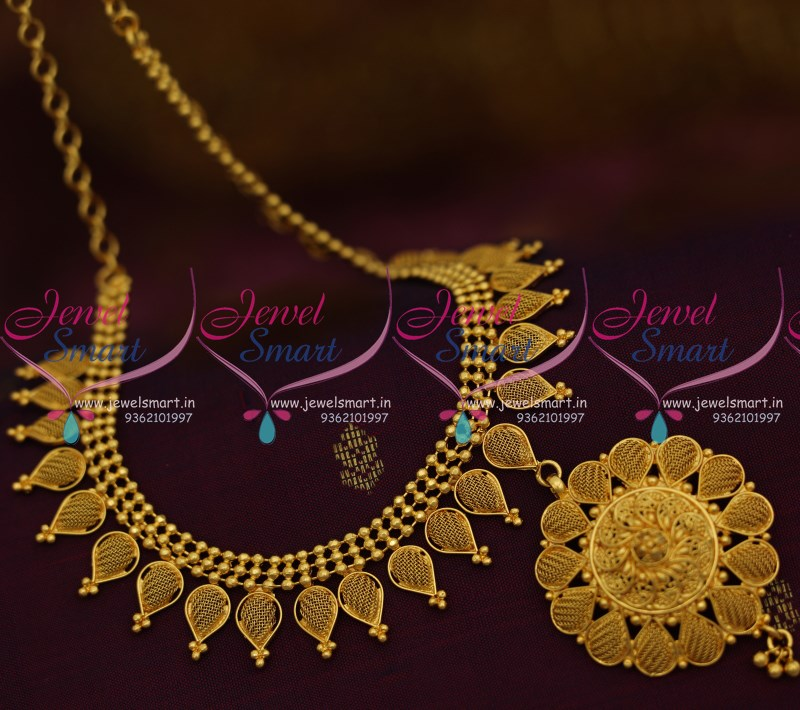 NL9208 Light Weight Delicate Low Cost South Indian Imitation Jewellery  Necklace