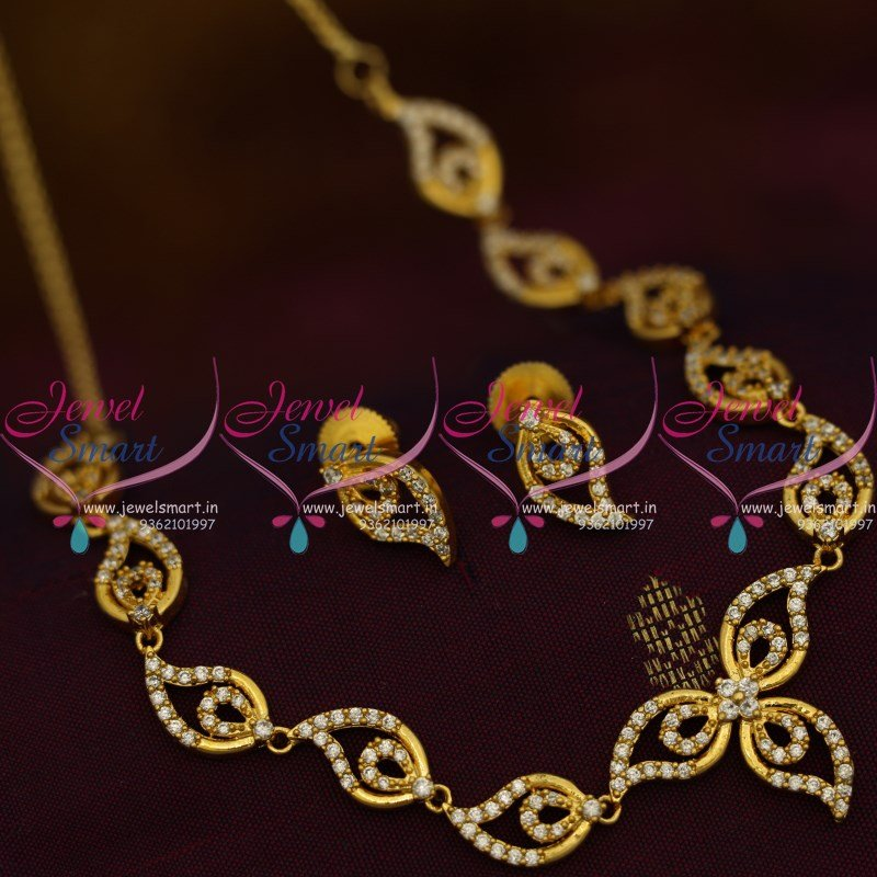 fancy south jewels mart jewellery light weight gold necklace prem stone india