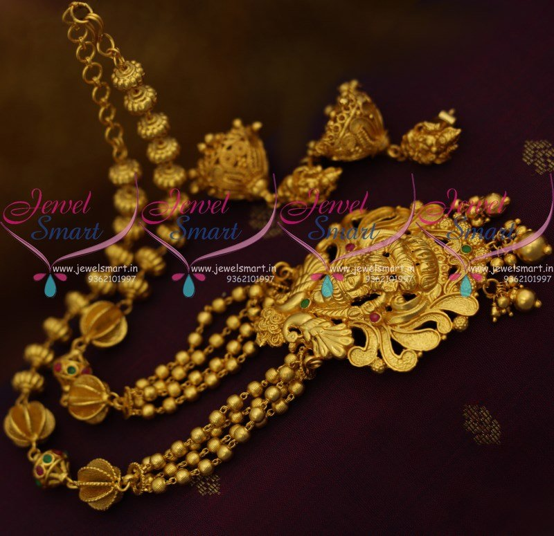 Nl9358 One Gram Gold Plated Temple Traditional Jewellery