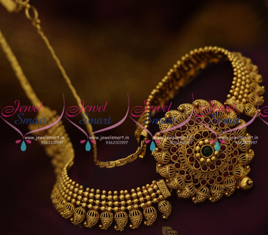 H9634 Traditional Mango Design Antique Gold Plated