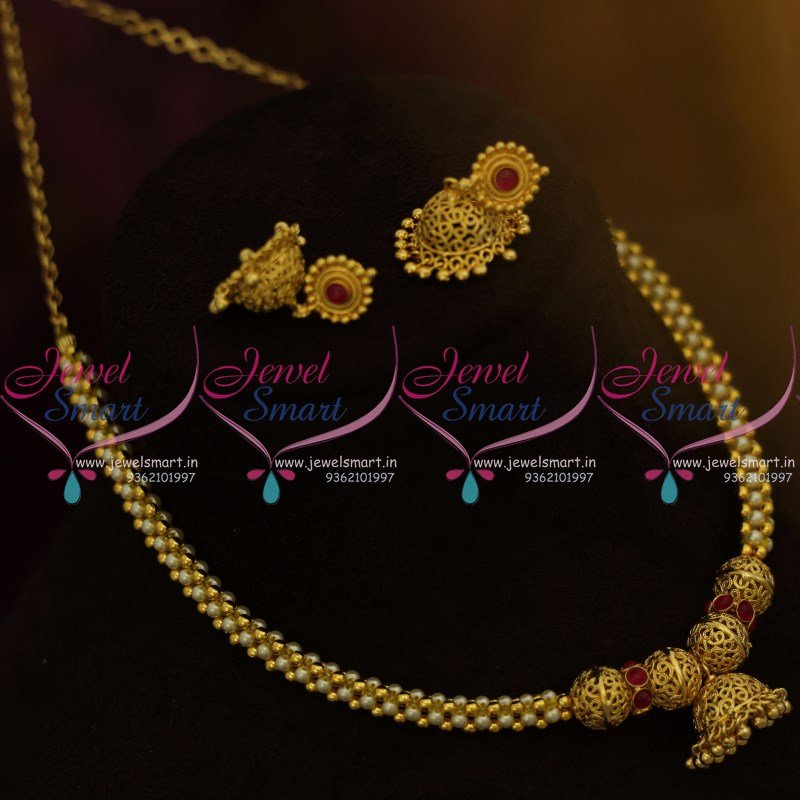 jewels indian from south low necklace gold thangamayil india light weight