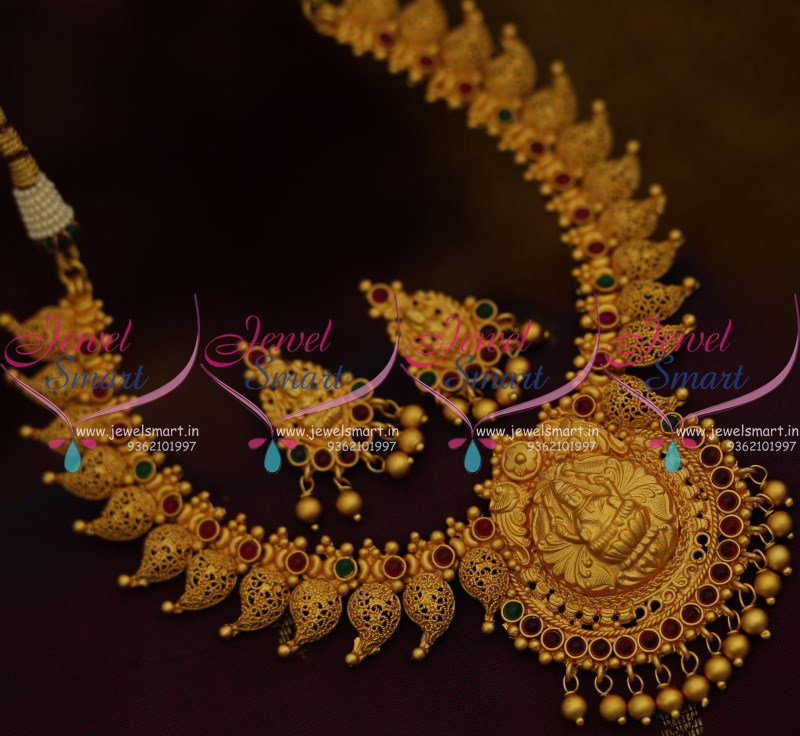 NL9762 Matte Reddish Gold Kerala Design Temple Jewellery Latest Imitation  Online
