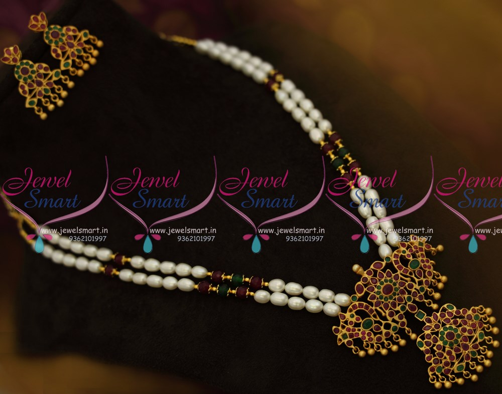 Nl9879 Hyderabad Pearl Mala Double Strand Traditional
