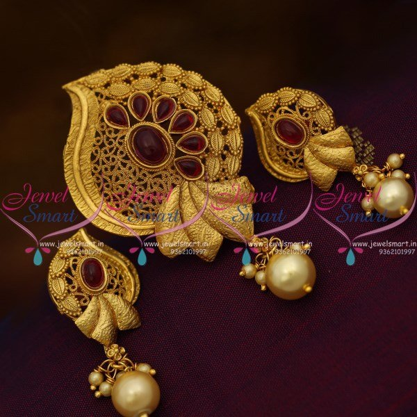 Ps9931 stylish gold design kemp red handmade low price pendant set ps9931 stylish gold design kemp red handmade low price pendant set buy online aloadofball Images