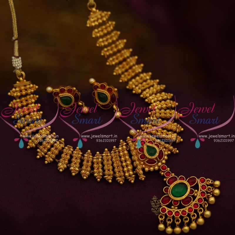 4769ff607a NL10123 South Indian Traditional Design Kemp Necklace Latest Imitation Jewellery  Buy Online