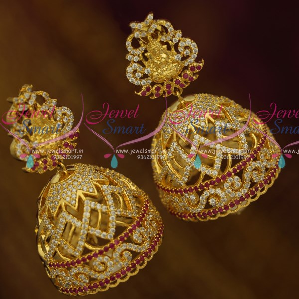 J10525 Ad Temple Jewellery Big Size Jhumka Earrings