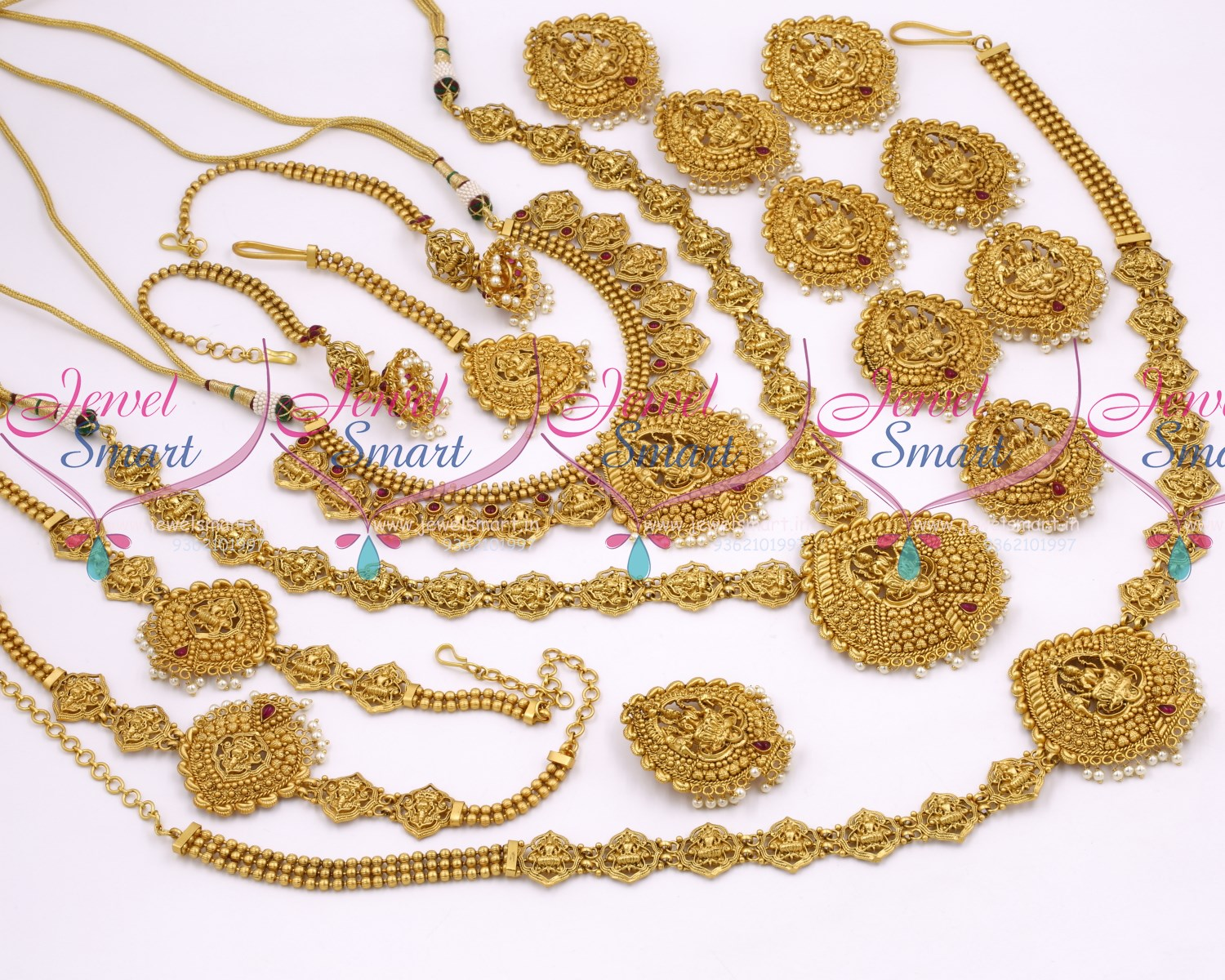 BR10359 Nagas South Indian Temple Gold Jewellery Inspired Full Bridal Wedding Design Collections