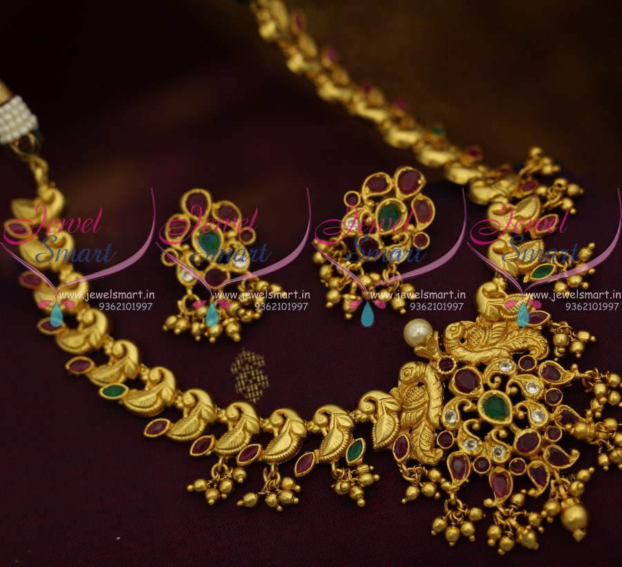 jewels antique latest south weight model with gold attigai details necklace india