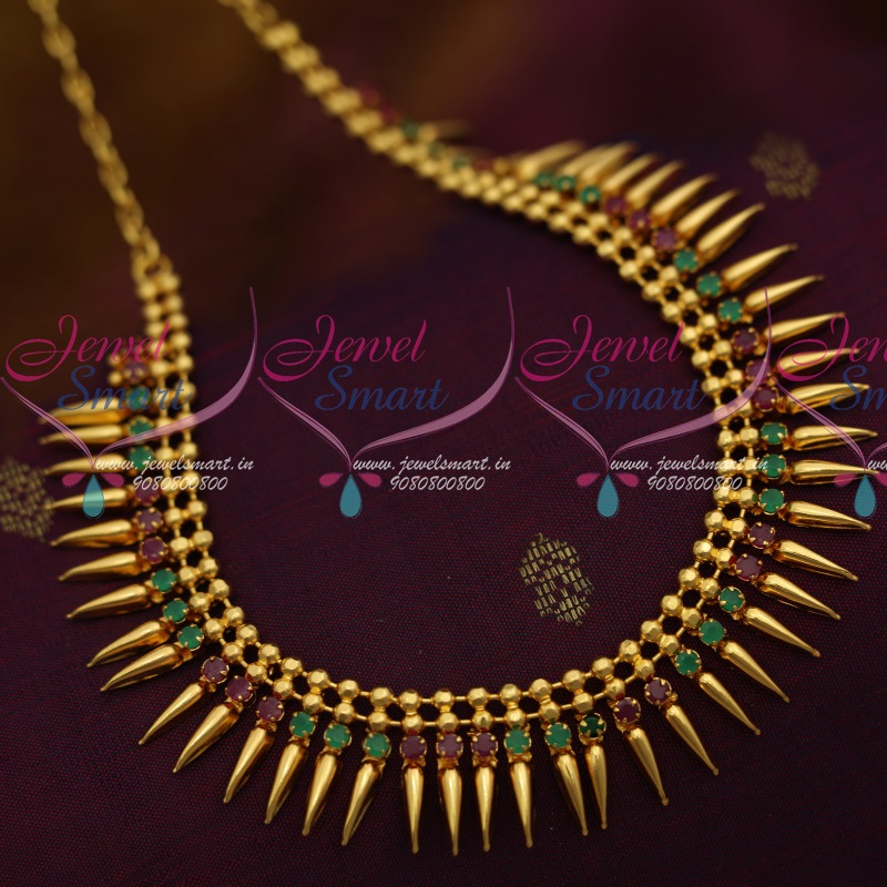 3037884c08d36 NL11418 Kerala Style South Indian Ruby Emerald Jewellery Latest Trendy  Collections Shop Online