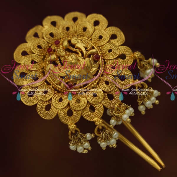Wedding Kondai Hairstyle: H11446 One Gram Temple Jewellery Rakodi Hair Choti Single