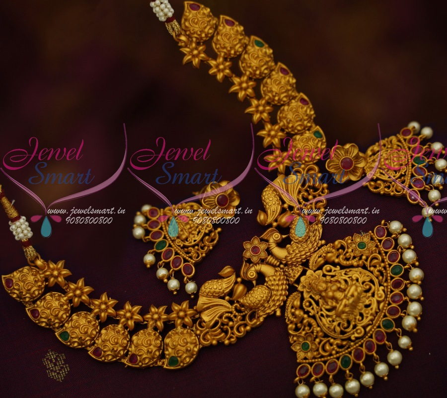 NL11612 South Indian Temple Jewellery Matte Gold Latest Imitation ...