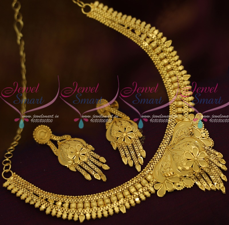 Nl11852 South Indian Traditional Gold Design Artificial