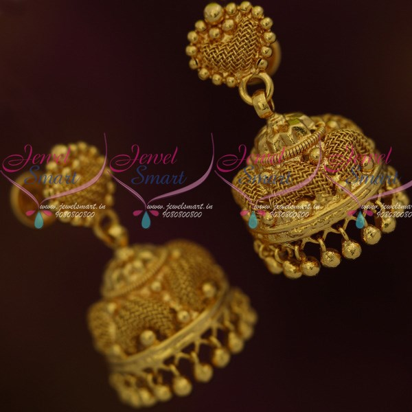 4a01f817ebdc2 J11951 Low Price Emboss Woven Design Jimikki South Indian Gold Covering  Imitation Jewellery Online