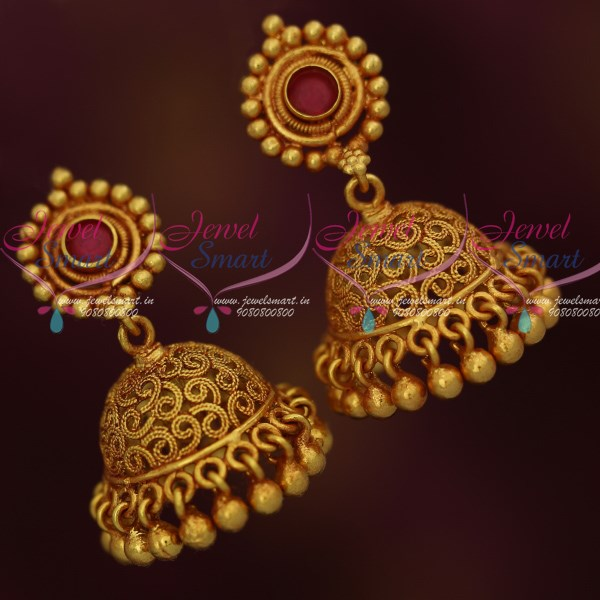 J9841 Kemp Small Size Light Weight Screw Back Jhumka