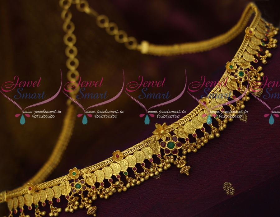 H12241 South Indian Jewellery Gold Plated Kasulaperu Hip Chain Temple Coin  Vaddanam Latest Traditional Designs Online
