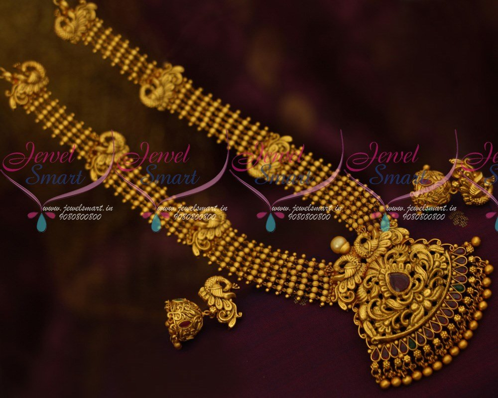 design south plated tamilnadu net beads online gold chain dollar trendy lakshmi traditional jewelry jewellery indian imitation temple