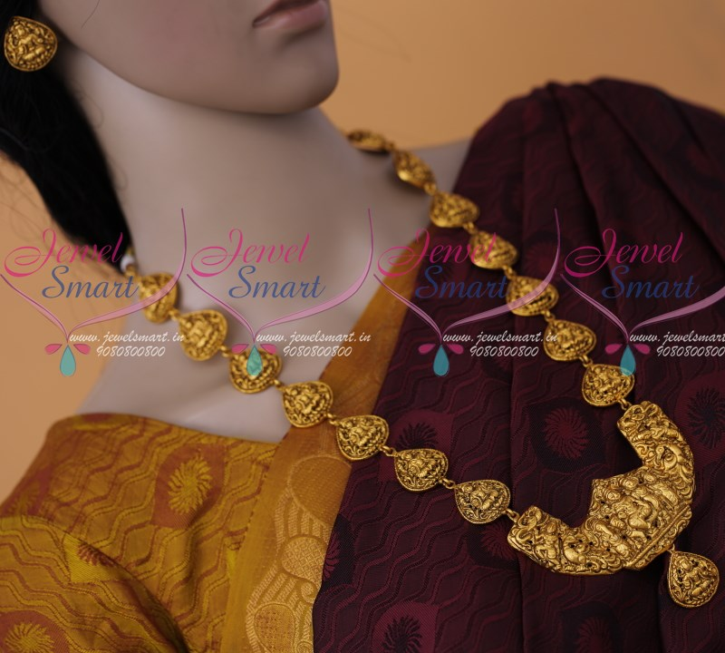 NL7006 Antique Traditional Gold Design Nagas Jewellery Haram Long ...