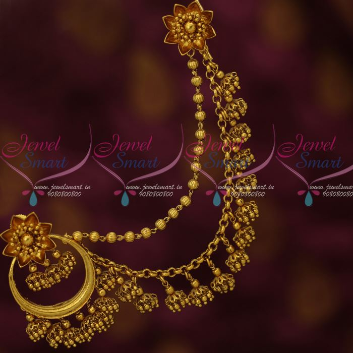 Wedding Kondai Hairstyle: J12570 Bahubaali Movie Devasena Earrings Maatil Earrings