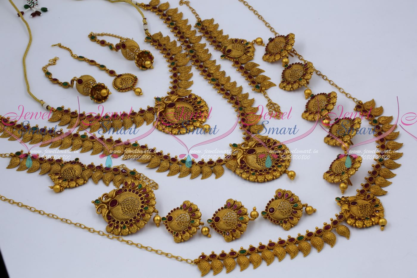 380c9d9052 BR12603 Antique Bridal Matte Copper Tone Reddish South Indian Gold Finish  Wedding Dulhan Jewellery Full Set Latest Collections