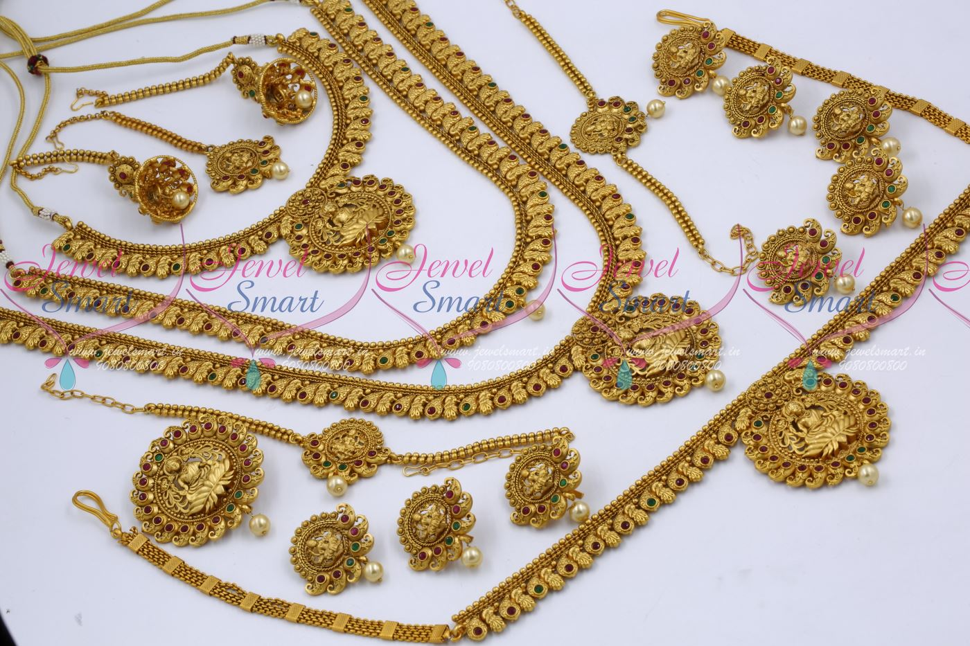 BR12604 Long Medium Short 3 Necklace Combo Bridal Jewellery Latest ...
