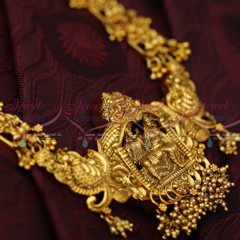 cf16fddc6 NL12472 Lord Shiva Parvathi Temple Jewellery Matte Antique Haram Latest South  Indian Imitation Shop Online
