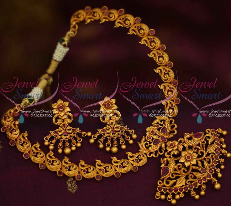 india jhumka set jewellers ruby necklace seeta antique south jewels gold pearl