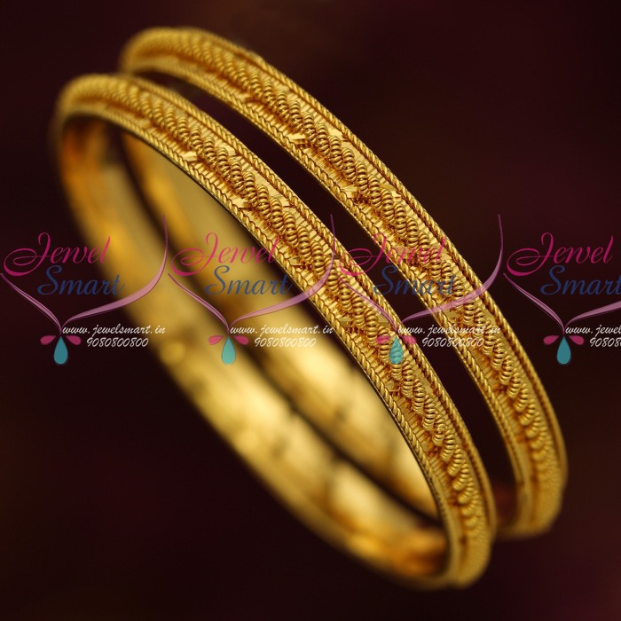B13876 Spiral Twisted Fancy Design Latest Daily Wear Jewelry South Indian  Bangles