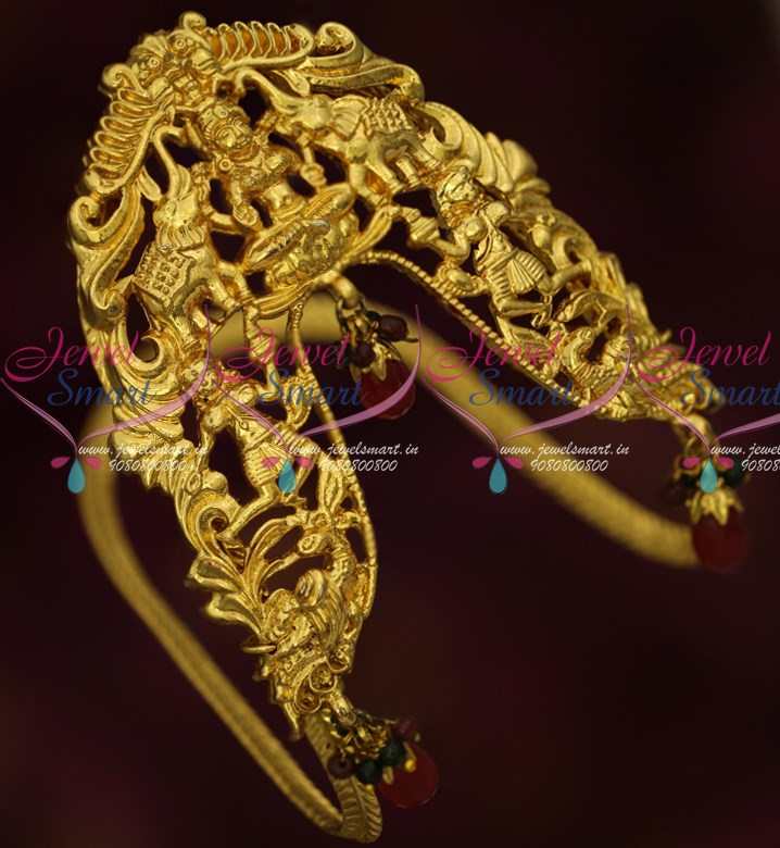 AR15987 Antique Gold Plated South Indian Traditional Broad