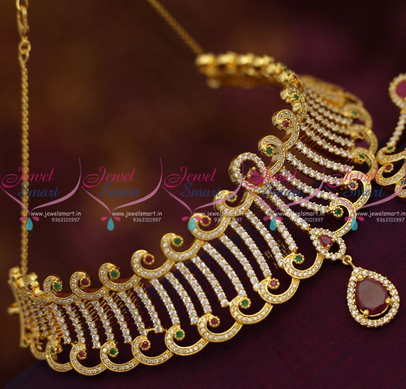 sarees necklace jhumka beautiful for jhumki short plated and salwars gold