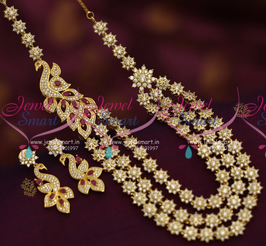 7d20604e4c6 NL6945 Peacock Multilayer Ruby Fashion Jewellery Buy Online New Designs