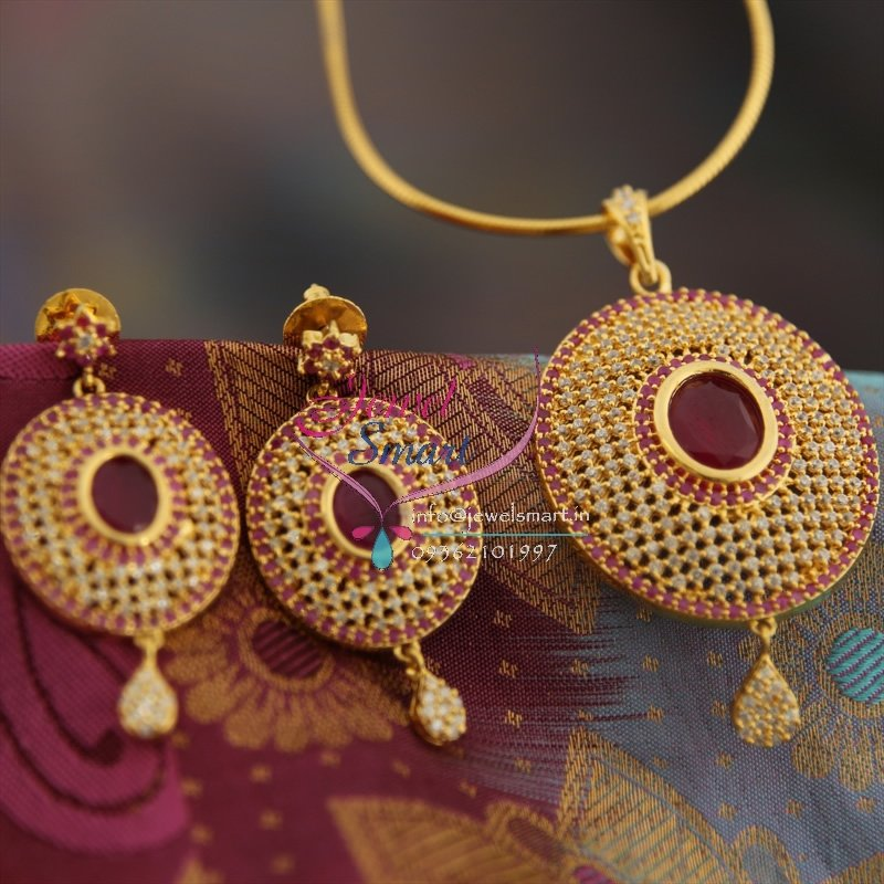 Ps8993 gold design plated ruby cubic zircon pendant earrings fancy ps8993 gold design plated ruby cubic zircon pendant earrings fancy jewelry set aloadofball Image collections