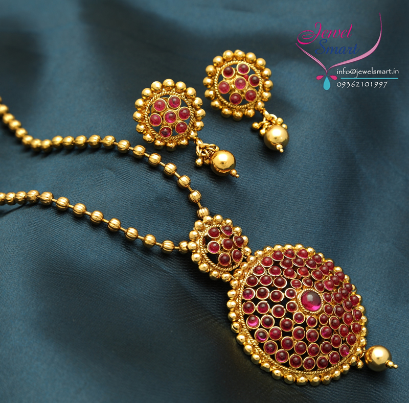 Ps0005 gold plated kemp stones pendant earrings beads chain red gold ps0005 gold plated kemp stones pendant earrings beads chain red gold plated mozeypictures Gallery