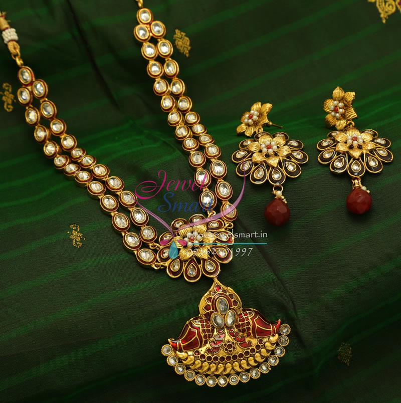 Traditional Indian Gold Plated Imitation Jewelry 2 Step