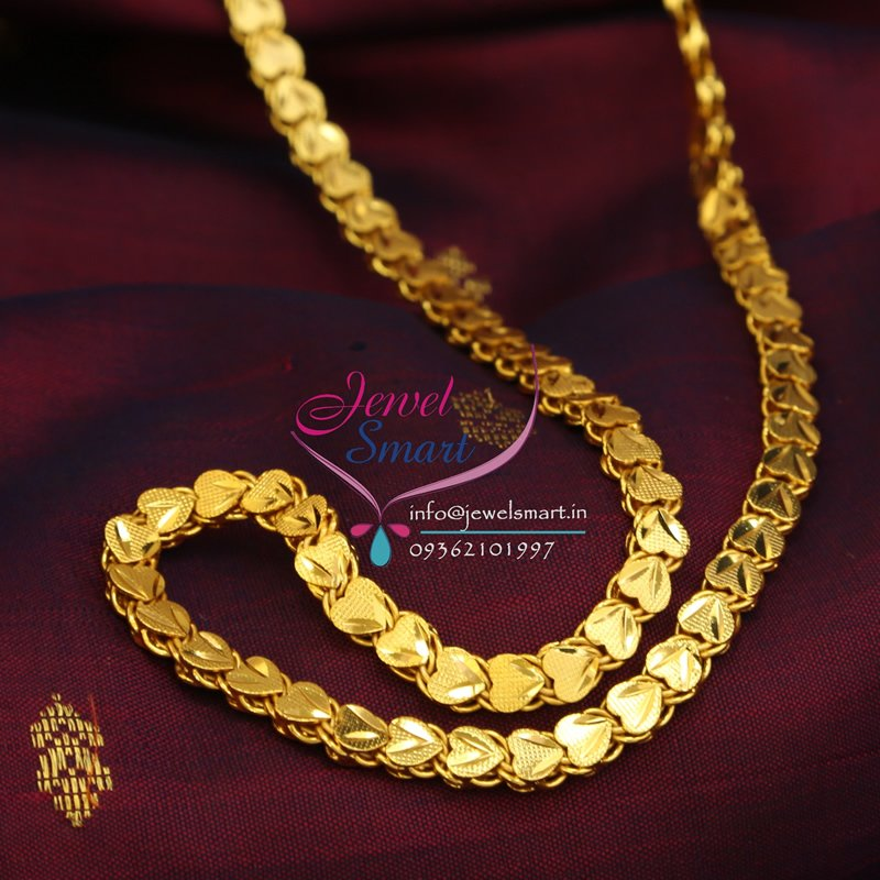 C0139 Gold Plated Chain 24 Inches Height Party And Daily